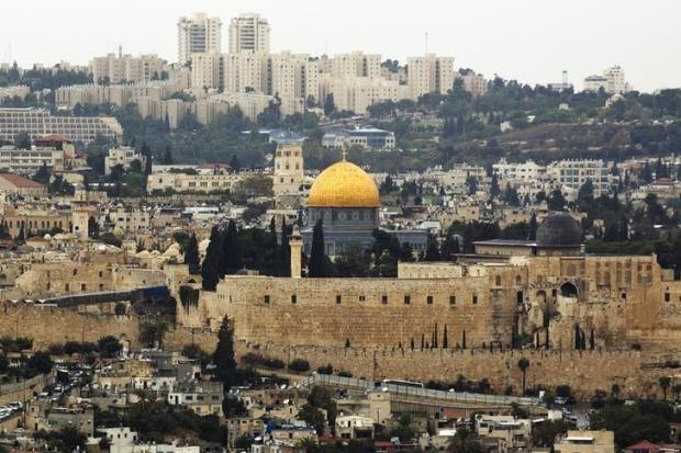 A general view of Jerusalem's old city shows the Dome of the Rock in the compound known to Muslims as Noble Sanctuary and to Jews as Temple Mount