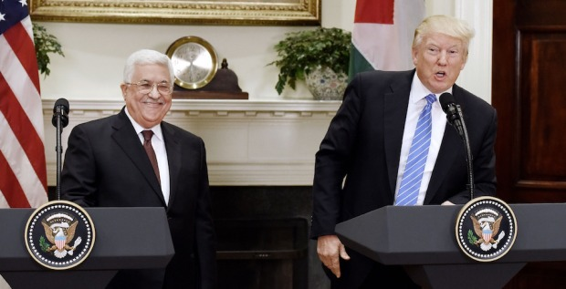 President Trump Welcomes Palestinian President Abbas To White House