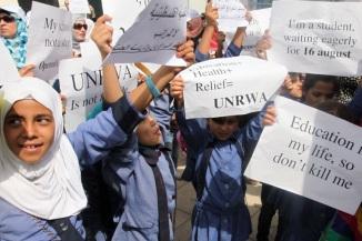 JORDAN-PALESTINIAN-REFUGEE-UNRWA-DEMO