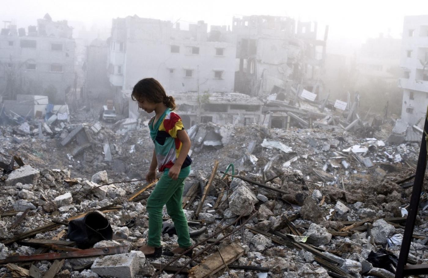 gaza rubble 2014 afp