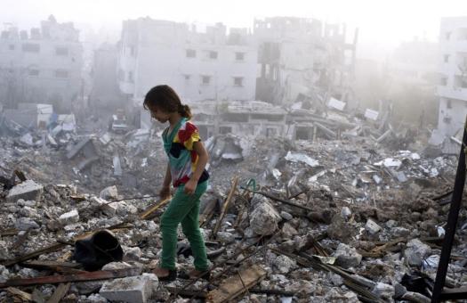 gaza rubble 2014 afp