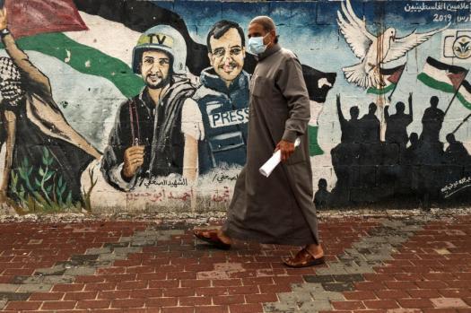 Palestine Journalists_AFP